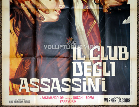 Murderers Club of Brooklyn 1970 Italian 2F Poster - Bottom Half