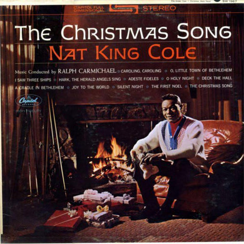 Nat King Cole ‎– The Christmas Song vinyl record front cover