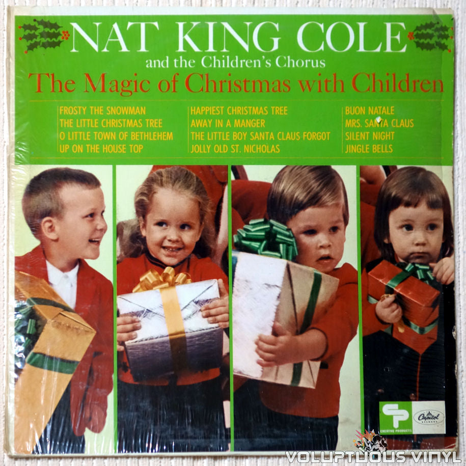 Nat King Cole And The Children's Chorus ‎– The Magic Of Christmas With Children - Vinyl Record - Front Cover