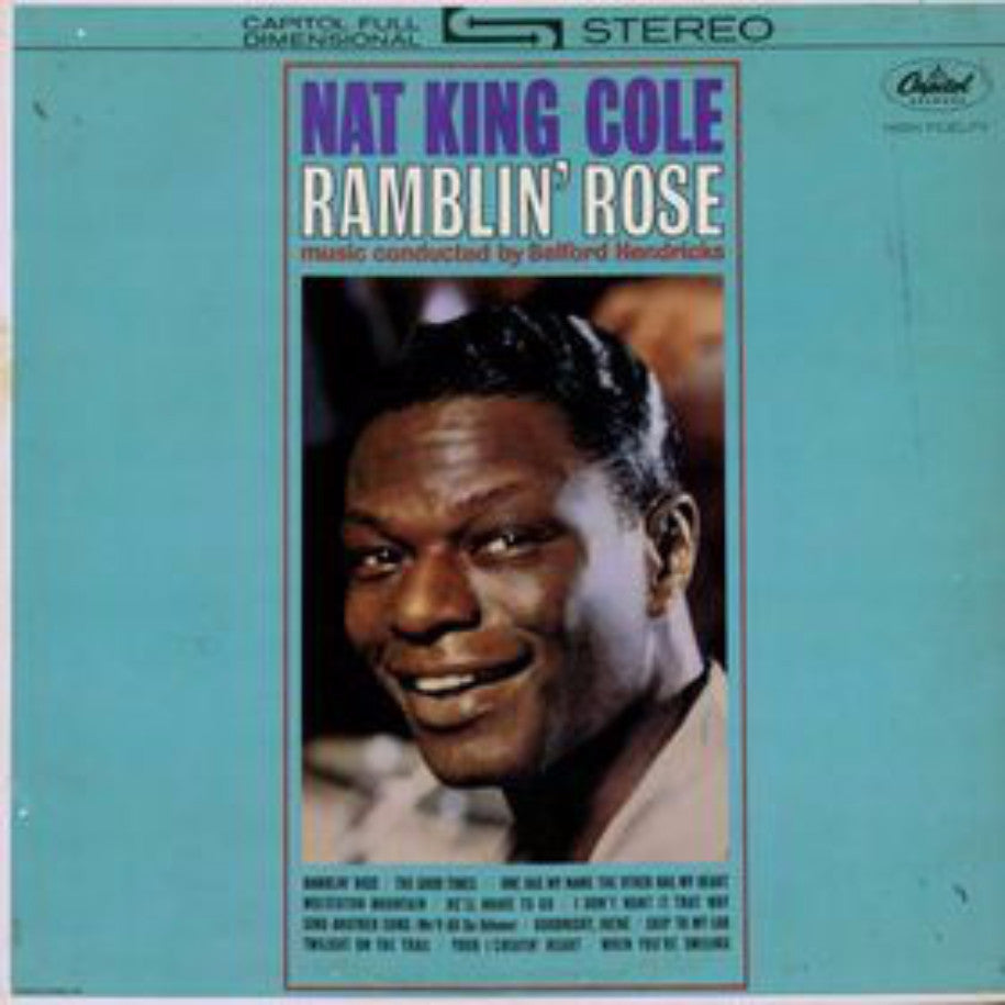 Nat King Cole ‎– Ramblin' Rose - Vinyl Record - Front Cover
