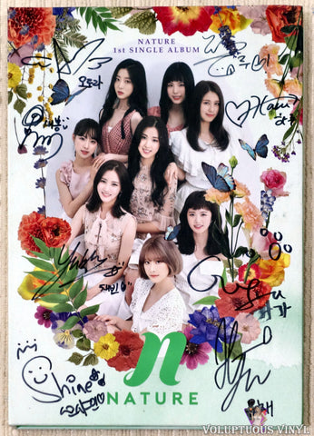 Nature ‎– Girls And Flowers (2018) Single, Promo, Autographed, Korean Press