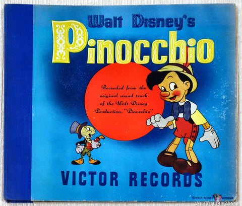 Ned Washington, Leigh Harline ‎– Walt Disney's Pinocchio (1940) Shellac, COVER ONLY!