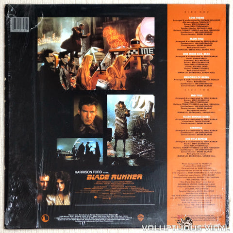 The New American Orchestra ‎– Blade Runner - Vinyl Record - Back Cover