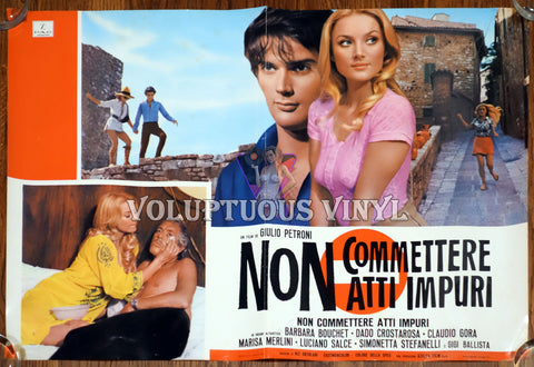 Don't Commit Impure Deeds (1971) Italian Fotobusta - Barbara Bouchet