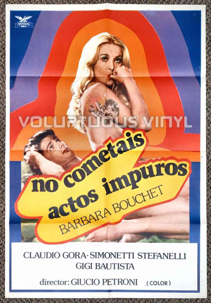 Do Not Commit Adultery 1981 Spanish 1-Sheet Movie Poster for the Italian Sex Comedy with Nude Barbara Bouchet