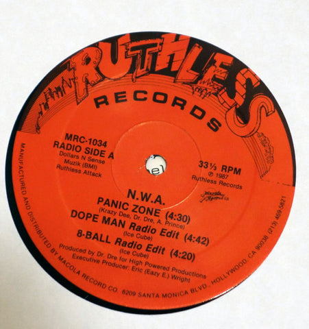 NWA Panic Zone EP Ruthless Records Side A