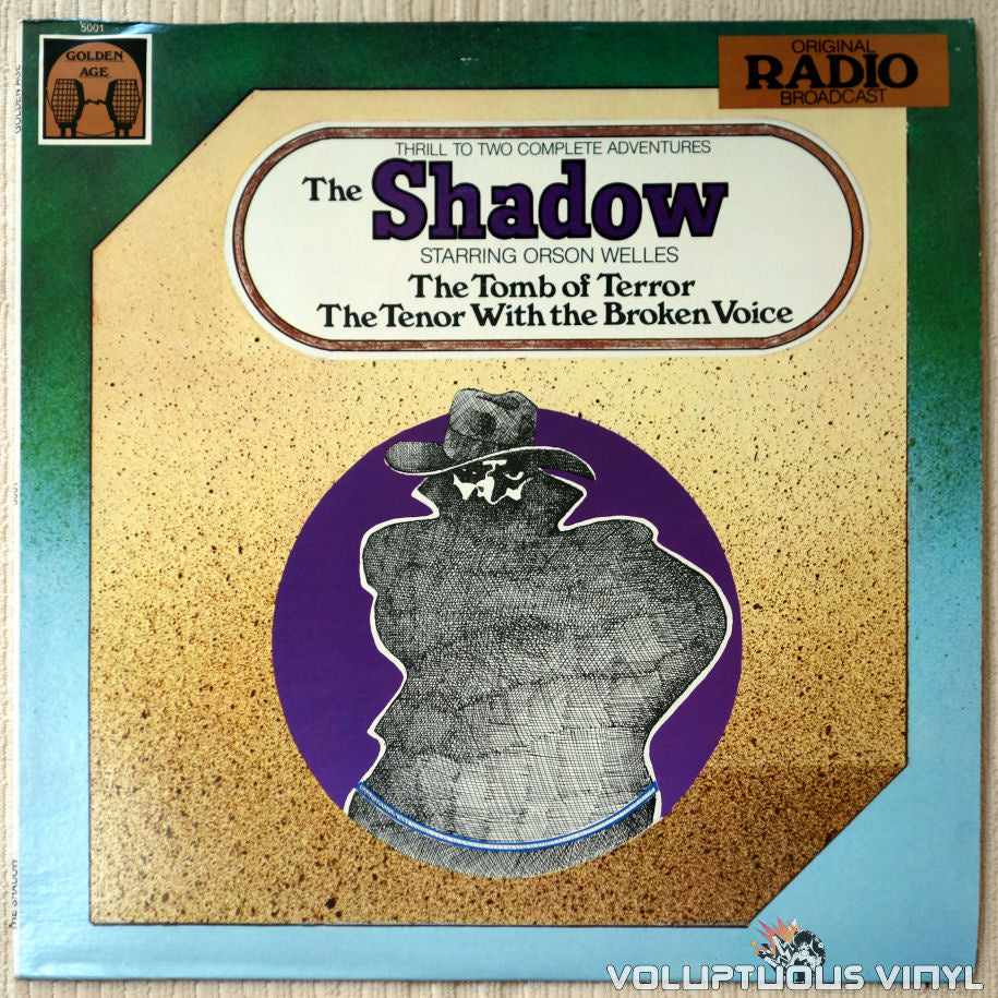 Orson Welles ‎– The Shadow - Vinyl Record - Front Cover