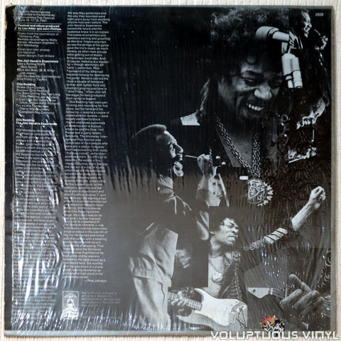 Otis Redding / The Jimi Hendrix Experience ‎– Historic Performances Recorded At The Monterey International Pop Festival vinyl record back cover