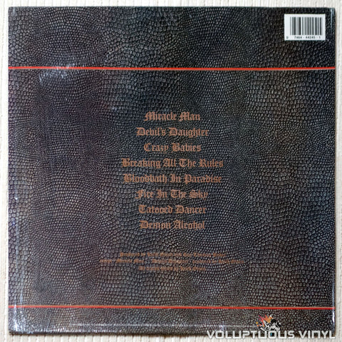 Ozzy Osbourne ‎– No Rest For The Wicked - Vinyl Record - Back Cover