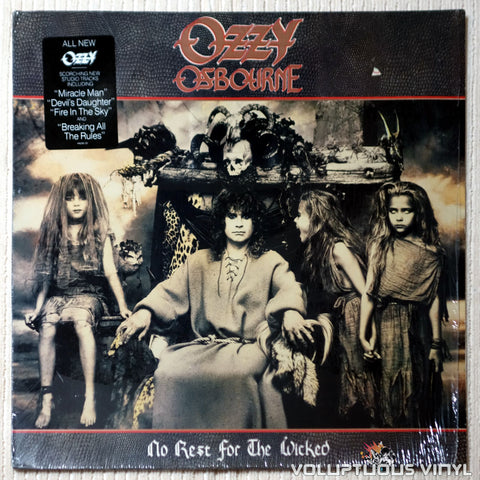 Ozzy Osbourne ‎– No Rest For The Wicked - Vinyl Record - Front Cover