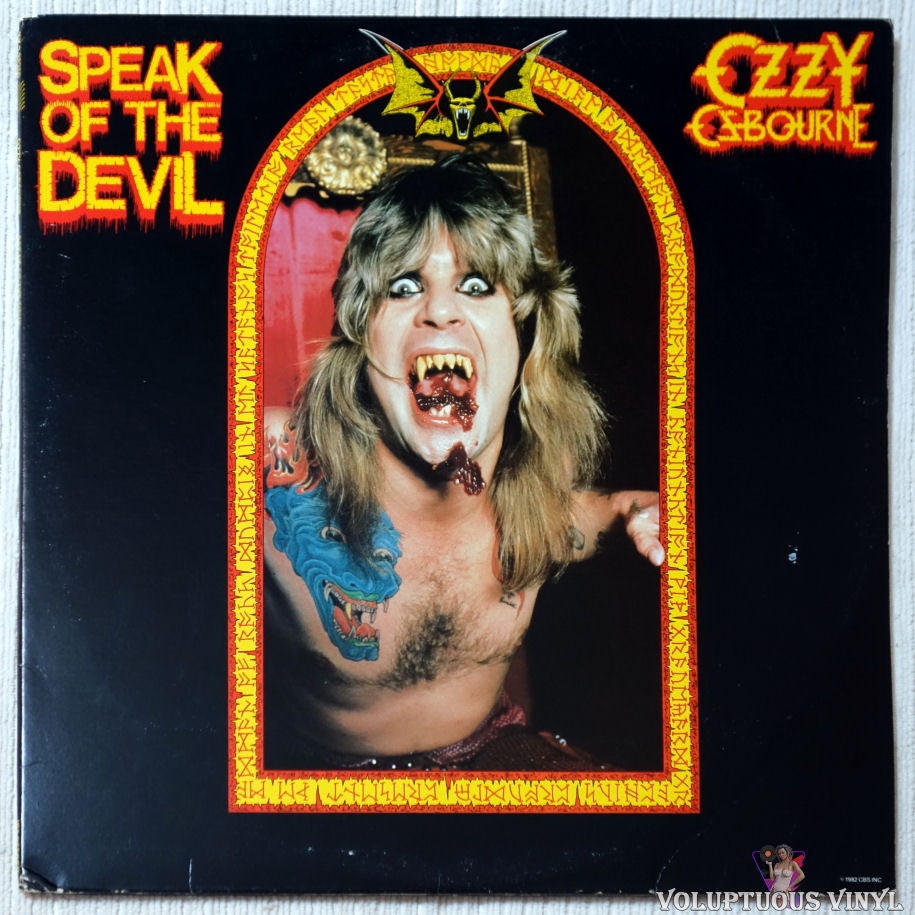 Ozzy Osbourne ‎– Speak Of The Devil vinyl record front cover