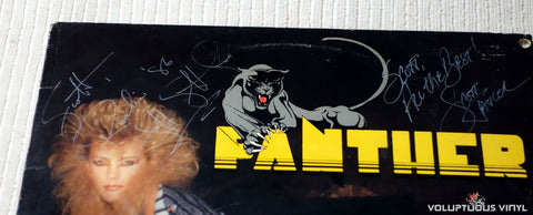 Panther ‎– Panther - Vinyl Record - Front Cover Autographs
