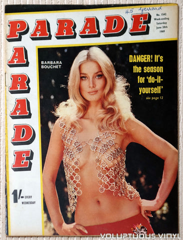 Parade - Issue 1542, June 1969 - Barbara Bouchet Cover
