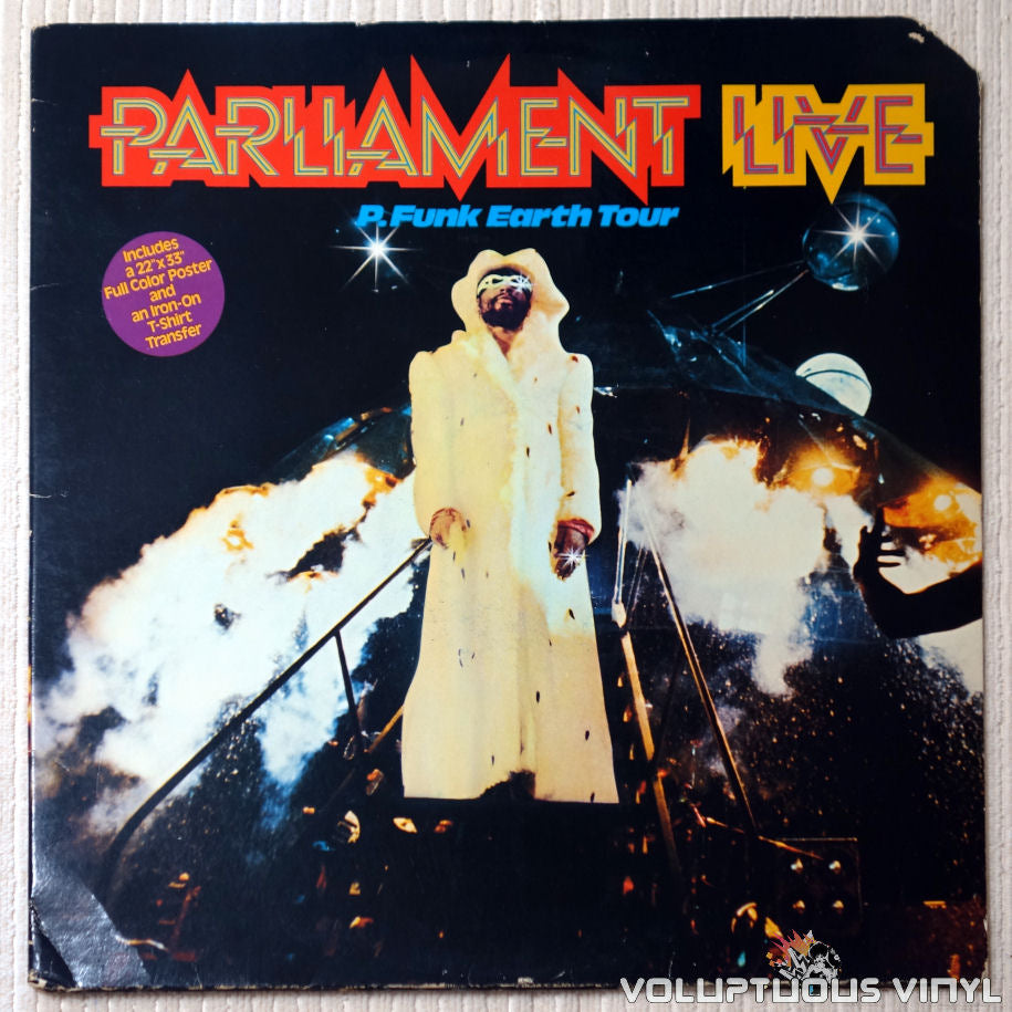 Parliament ‎– Live (P.Funk Earth Tour) - Vinyl Record - Front Cover