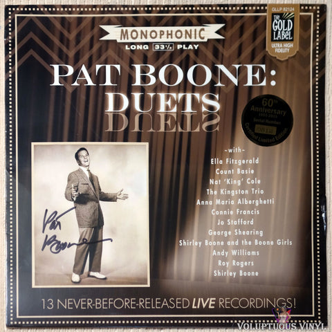 Pat Boone ‎– Pat Boone: Duets (2015) Numbered, Autographed SEALED