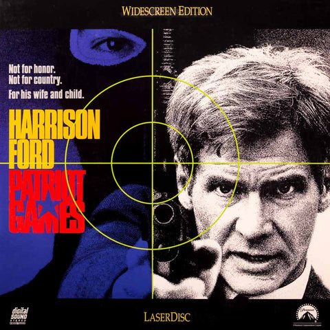 Patriot Games (1992) Harrison Ford LaserDisc