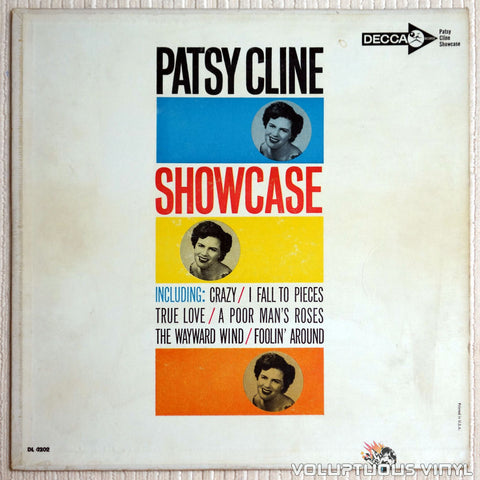 Patsy Cline ‎– Showcase - Vinyl Record - Front Cover