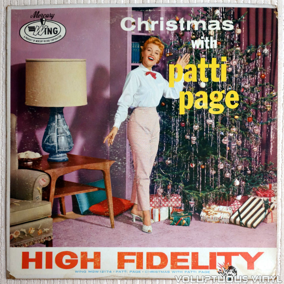 Patti Page ‎– Christmas With Patti Page - Vinyl Record - Front Cover