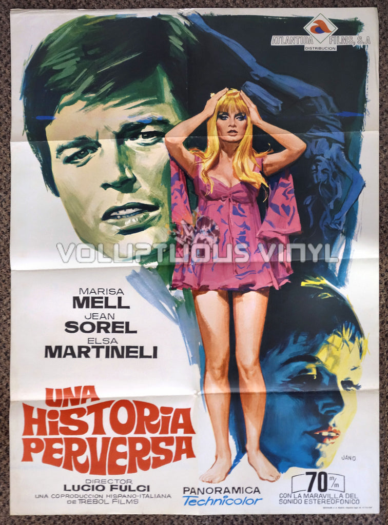 One on Top of the Other 1969 Spanish 1-Sheet Movie Poster for the Italian Giallo with Marisa Mell