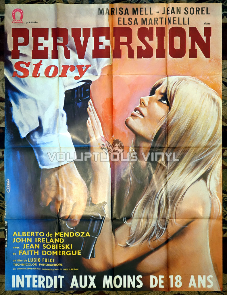 Perversion Story - French Grande Poster - Marisa Mell Nude