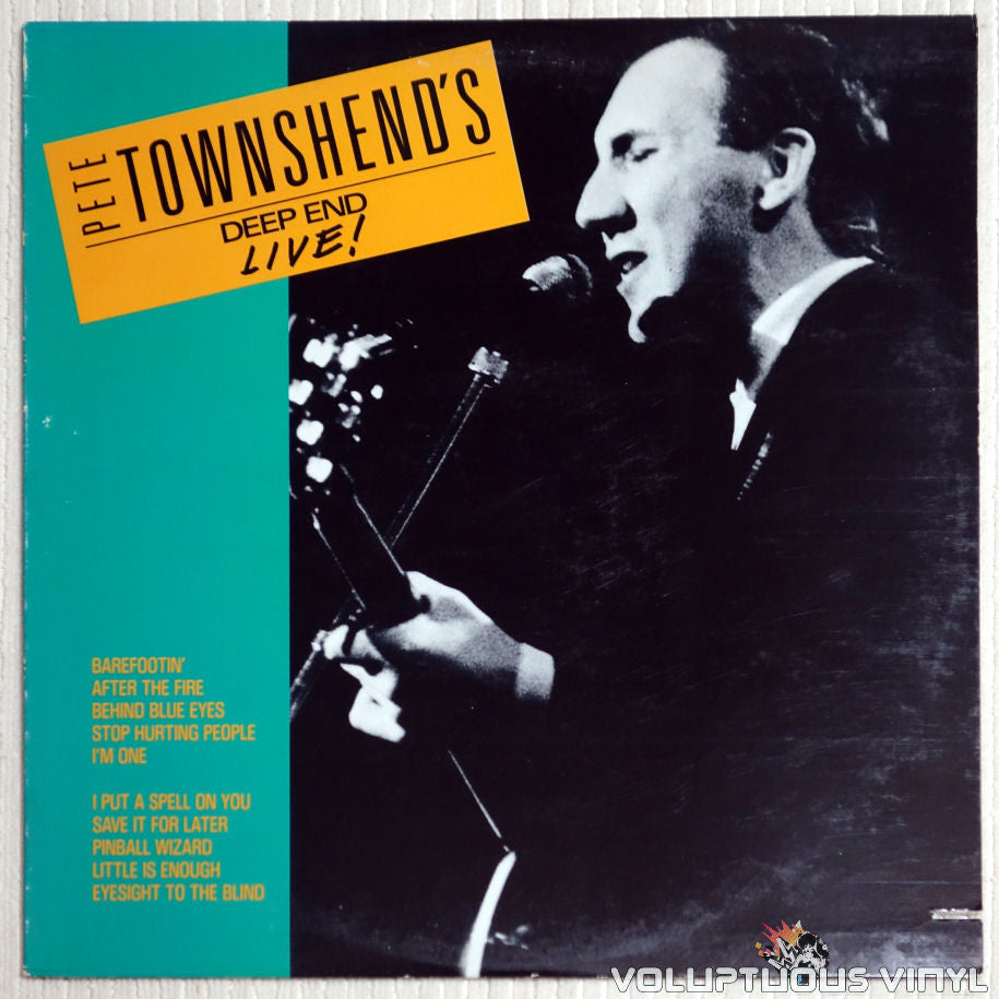 Pete Townshend ‎– Pete Townshend's Deep End Live! - Vinyl Record - Front Cover