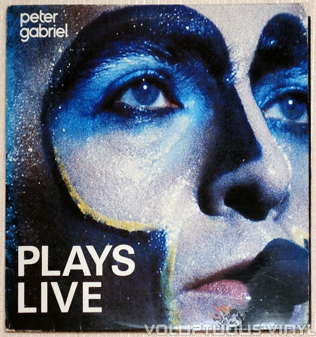 Peter Gabriel ‎Plays Live Vinyl Record Front Cover
