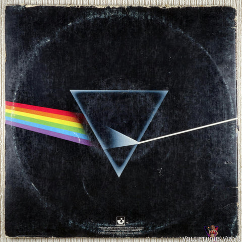 Pink Floyd ‎– The Dark Side Of The Moon vinyl record back cover