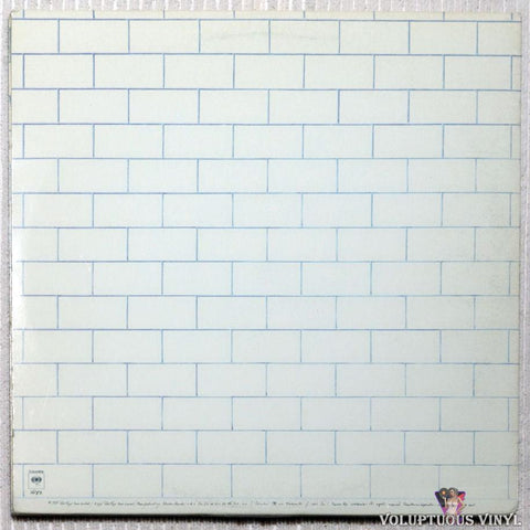 Pink Floyd ‎– The Wall vinyl record back cover