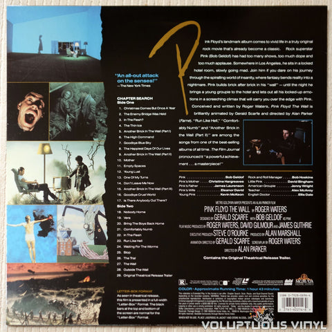 Pink Floyd: The Wall - LaserDisc - Back Cover