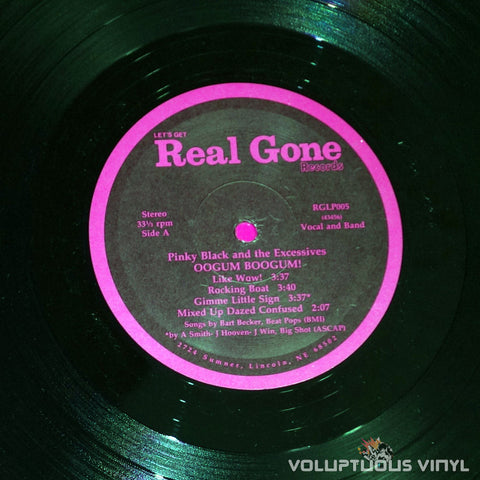 Pinky Black And The Excessives ‎– Oogum Boogum! - Real Gone Vinyl Record Label