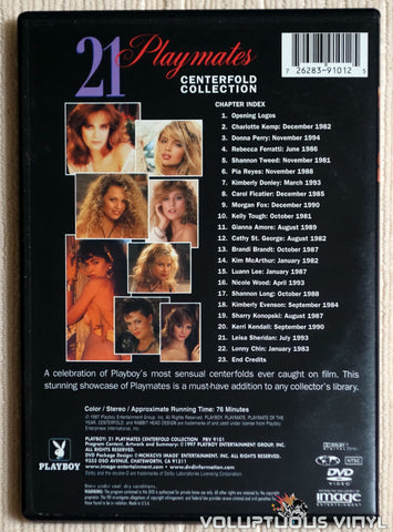 Playboy: 21 Playmates Centerfold Collection - DVD - Back Cover
