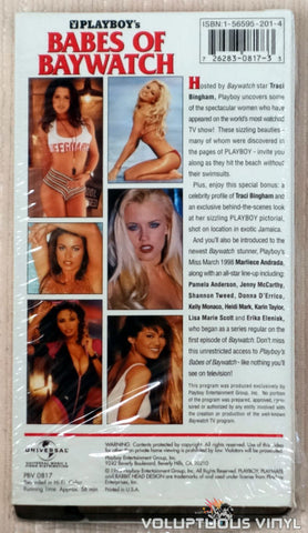 Playboy's Babes of Baywatch - VHS Tape - Back Cover