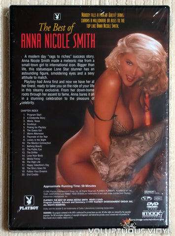 Playboy Best of Anna Nicole Smith - DVD - Back Cover