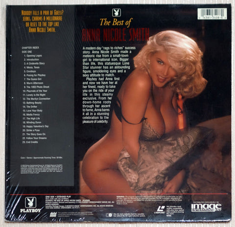 Playboy Best of Anna Nicole Smith Laser Disc Back Cover