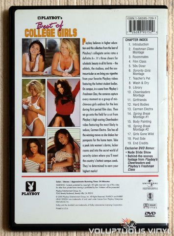 Playboy: Best Of College Girls - DVD - Back Cover