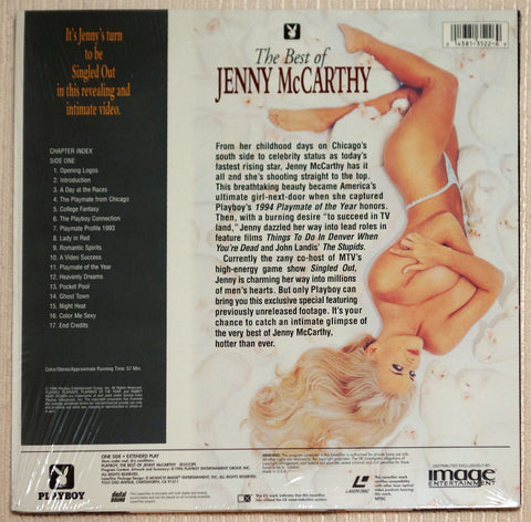 Playboy Best of Jenny McCarthy Laser Disc Back Cover