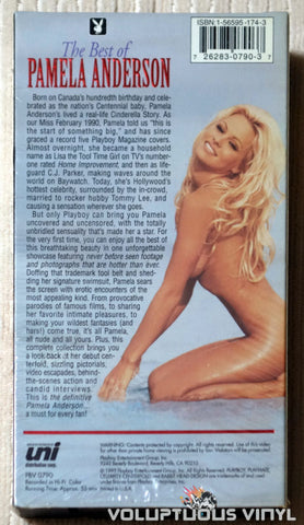 Playboy The Best of Pamela Anderson - VHS - Back Cover