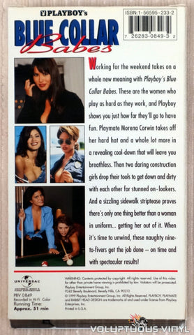 Playboy's Blue Collar Babes - VHS Tape - Back Cover