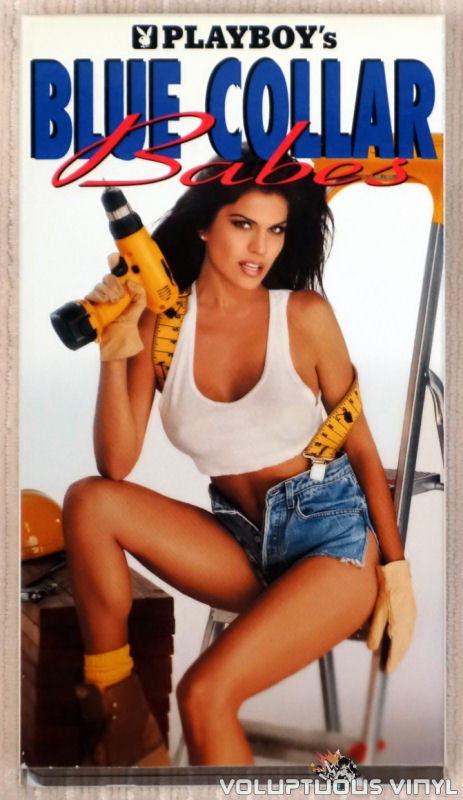 Playboy's Blue Collar Babes - VHS Tape - Front Cover