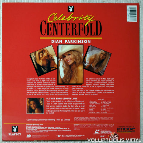 Playboy Celebrity Centerfold: Dian Parkinson laserdisc back cover