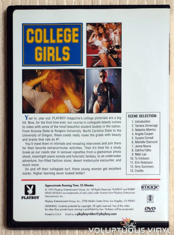 Playboy College Girls - DVD - Back Cover
