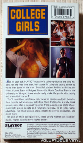Playboy College Girls - VHS - Back Cover