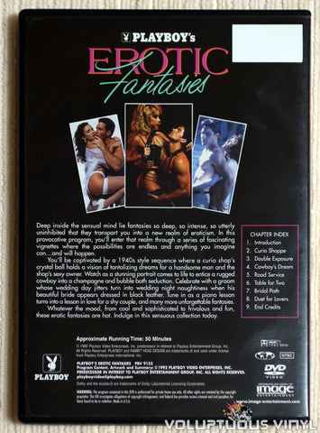 Playboy: Erotic Fantasies - DVD - Back Cover
