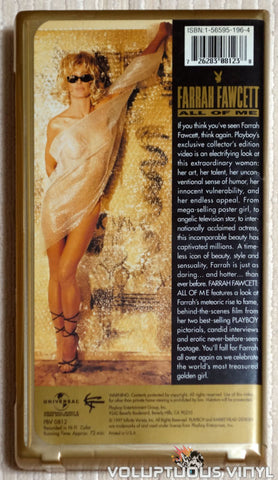 Playboy: Farrah Fawcett All Of Me - VHS - Back Cover