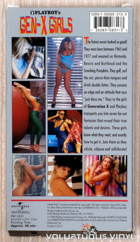 Playboy's Gen-X Girls - VHS Tape - Back Cover
