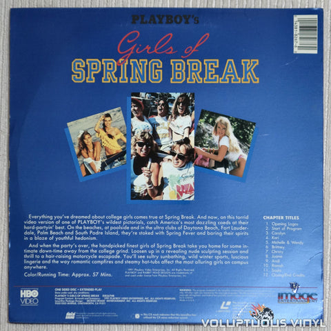 Playboy Girls of Spring Break - LaserDisc - Back Cover