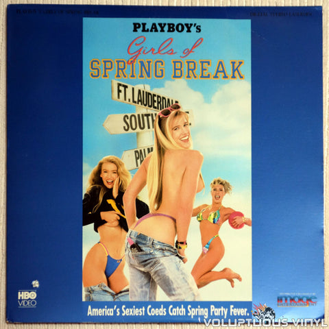 Playboy Girls of Spring Break - LaserDisc - Front Cover