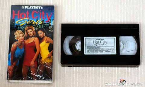 Playboy's Hot City Girls - VHS Tape - Back Cover