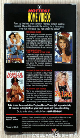 Playboy's Hottest Home Videos - VHS Tape - Back Cover