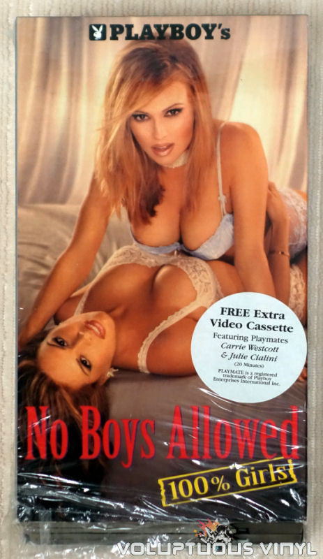 Playboy's No Boys Allowed, 100% Girls - VHS Tape - Front Cover